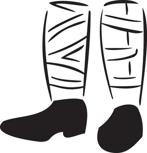 Illustration Of The Legs Of Wwi Soldier.