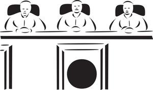 Illustration Of Three Judge.