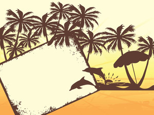 Illustration Of Tropical Background