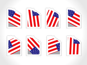 Illustration Of Us Flag With Ticket