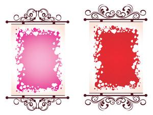 Illustration Of Valentine Day Frame