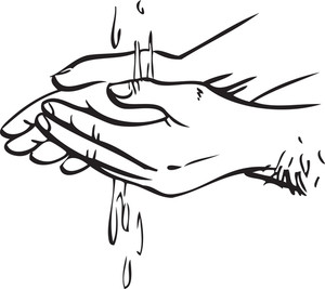 Illustration Of Washing Hands.
