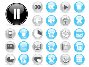 Illustration Of Web Icons