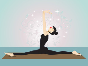 Illustration Of Yoga Girl Pose