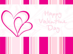 Illustration---pink Valentine Card