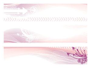 Illustration Set Of Header
