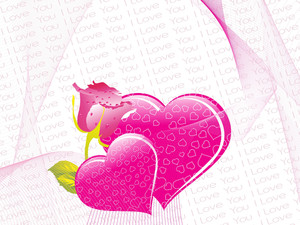 Illustration Valentine With Flower