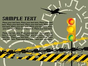 Illustration With Traffic Light