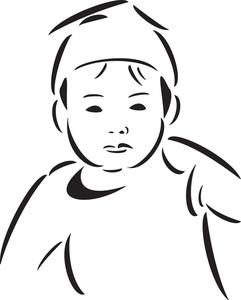 Illusttration Of A Cute Boy.