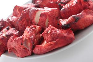 Indian Chicken Tikka Kebab Flame Grilled