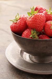 Fresh Strawberries In Dish