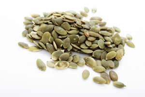 Dried Pumpkin Seeds Isolated On White