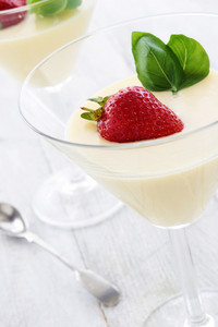 White Chocolate Mousse Dessert