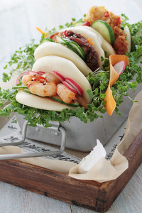 Malaysian Steamed Buns Sandwiches