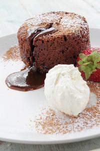 Plated Chocolate Fondant Dessert