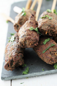 Mini Canape Shish Kofta Kofte Kebabs On Platter