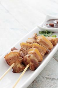 Chinese Pork Kebabs Appetizer
