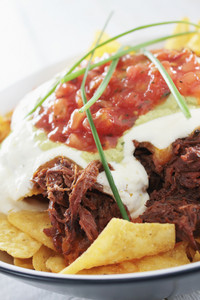 Tortilla Chips With Pulled Pork
