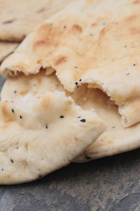 Indian Naan Bread And Poppadum