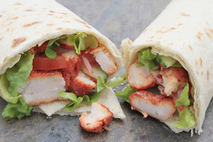 Indian Chicken Tikka Wrap