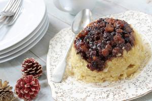 Sweet Mincemeat Sponge Pudding