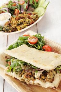 Falafel Wrap And Salad