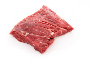 Raw Uncooked Brisket Flat Iron Steak