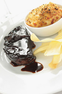 Steak Meal With Do Dauphinoise