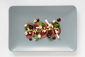 Beef Carpaccio Plated Appetizer Starter