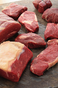 Selection Of Beef Steak Cuts