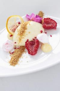 Panna Cotta Fruit Dessert
