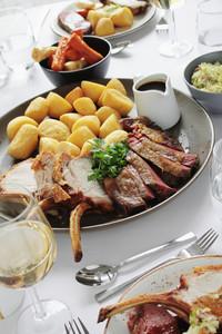 Roast Beef Sharing Meal