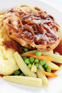 Pie With Mashed Potatoes And Vegetables