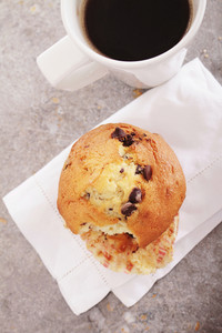 Fresh Coffe With Choc Chip Muffin