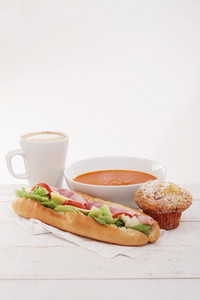 Soup And Baguette
