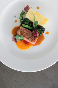 Plated Duck Breast Meal Dinner