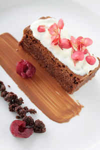 Chocolate Brownie Plated Dessert