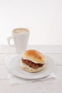 Plated Sausage Sandwich