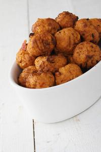 Mini Falafel Bhajis In Dish