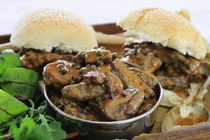 Steak In Peppercorn Sauce Sandwich Roll
