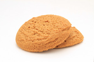 Gingersnap Biscuits Isolated On White Background