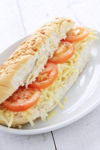 Cheese And Tomato Sub Sandwich