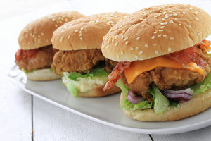 Chicken Burger Plated Meal