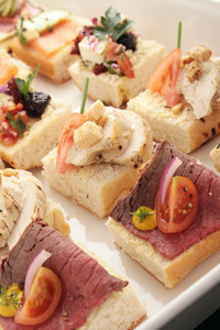 Open Sandwich Canapes