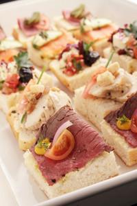 Open Sandwich Canapes