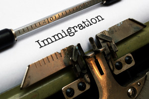 Immigration Text On Typewriter