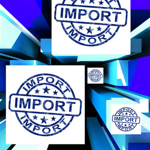 Import On Cubes Showing Importing Products