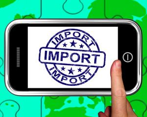 Import On Smartphone Shows International Shipment