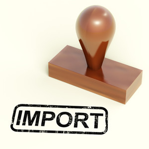 Import Stamp Showing Importing Goods Or Products