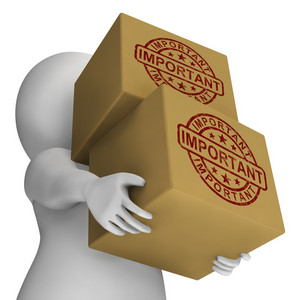 Important Stamp On Boxes Shows Critical Delivery